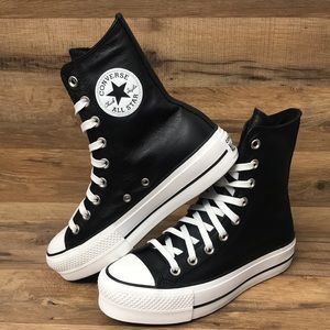 LEATHER PLATFORM CONVERSE XHI TOP BRAND NEW